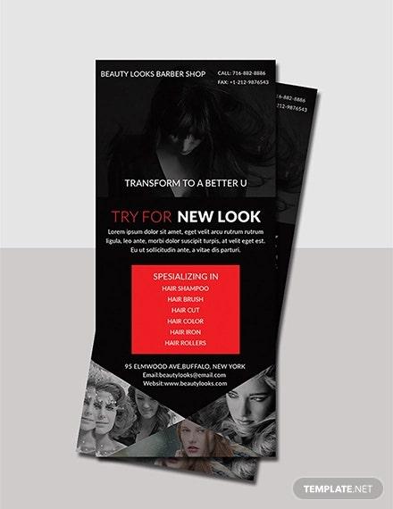 barbershop rack card template
