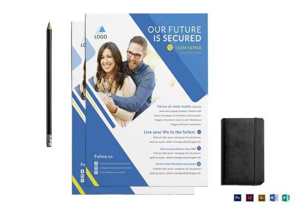 insurance advertising template design  14  Insurance Flyer Templates - Free PSD, Ai, EPS Format Download ...