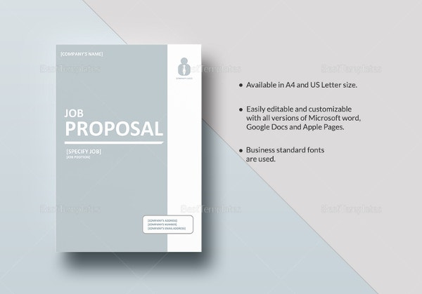 Job Proposal Template Free  LondaBritishcollegeCo