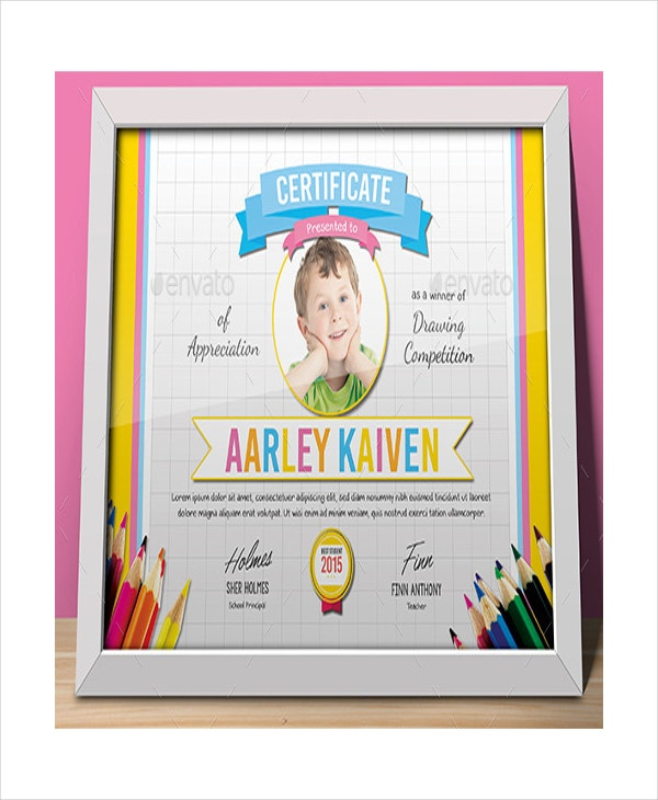 baby award winning certificate template