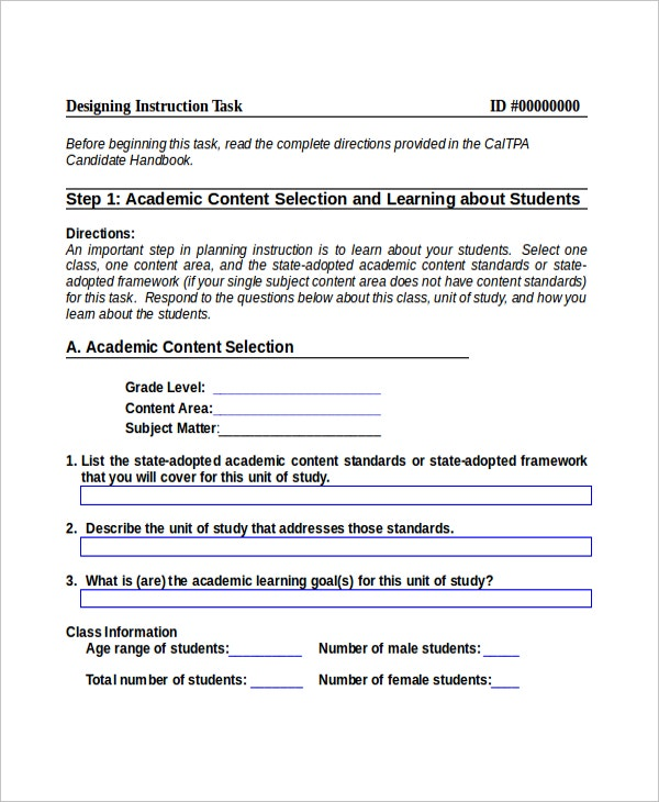 Basic Instruction Template