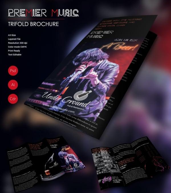 Premier Music Tri-fold Brochure