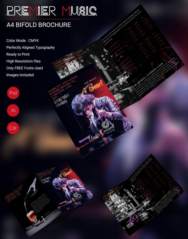 Premier Music Bi-fold Brochure