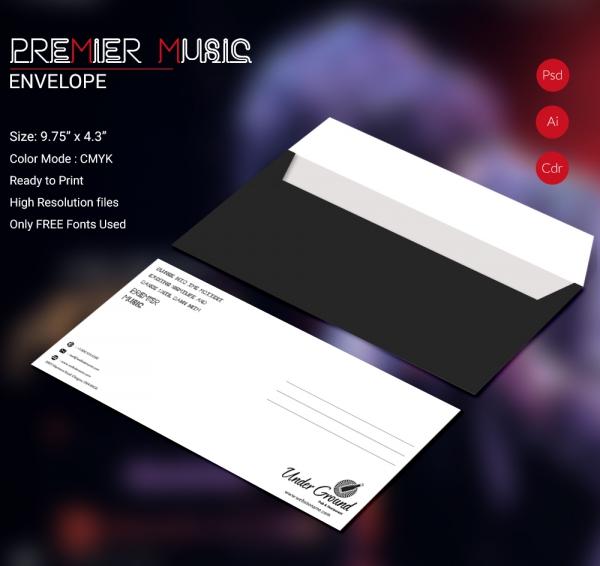 Premier Music Envelope