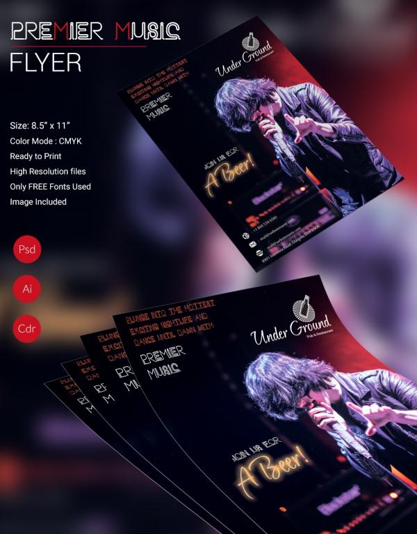 Premier Music Flyer