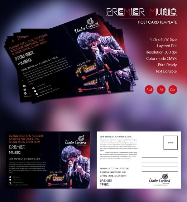 Premier Music Postcard
