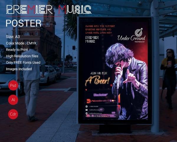 Premier Music Poster