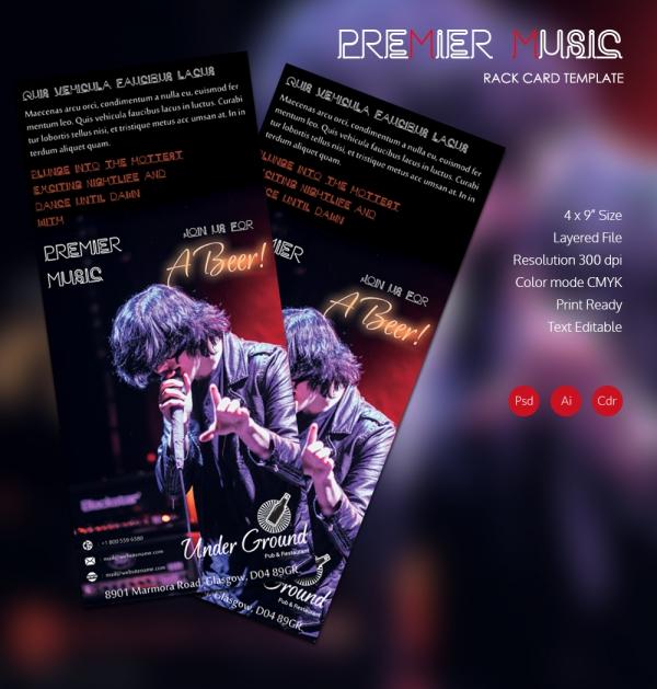 Premier Music Rack Card