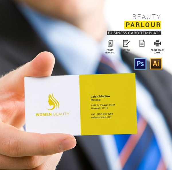 Beauty Parlour Business Card