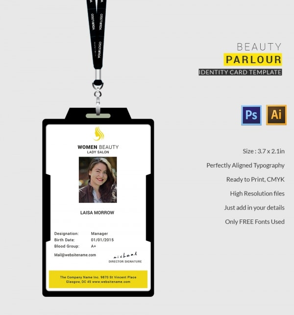 Beauty Parlour Identity Card