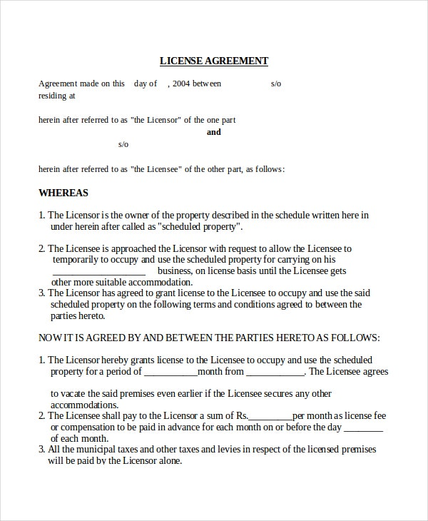 Agreement Templates  Free Sample Example Format  Free