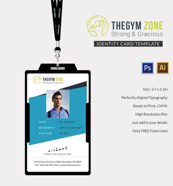 Gym Identity Card