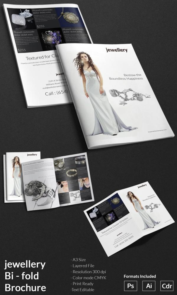 jewelry a4 bi fold brochure