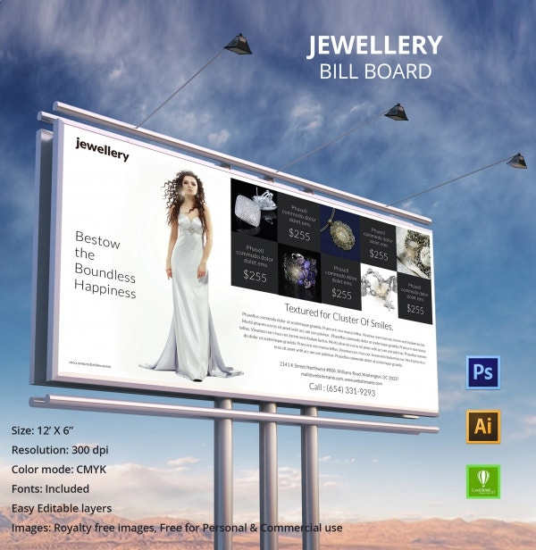 Jewelry Billboard Template
