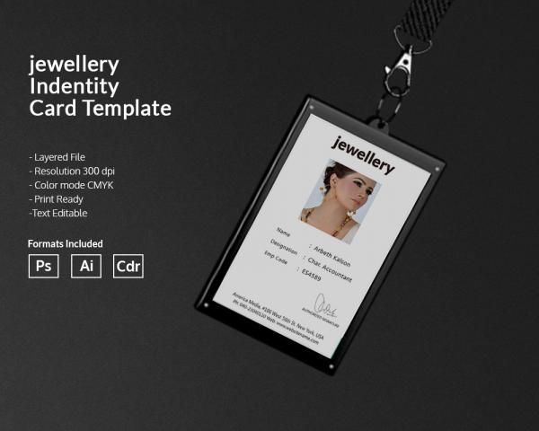 jewelry identity card