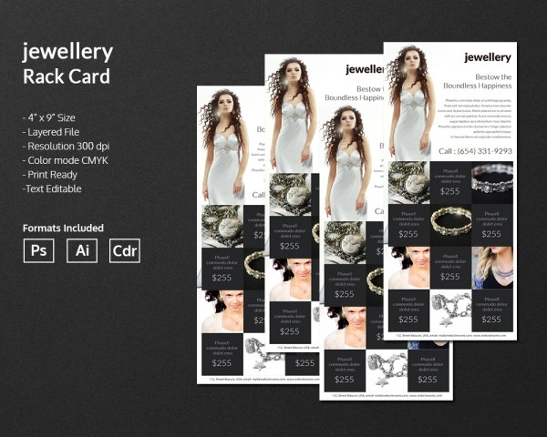 jewelry rack card