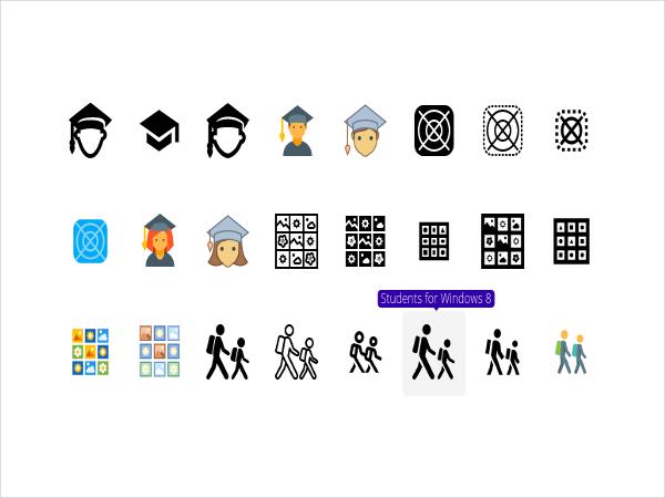 student icon set