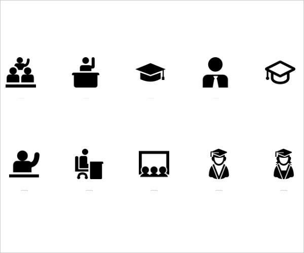 11 student icon set