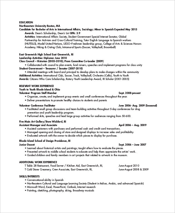 Personal Trainer Resume Template   Free Word Pdf Document