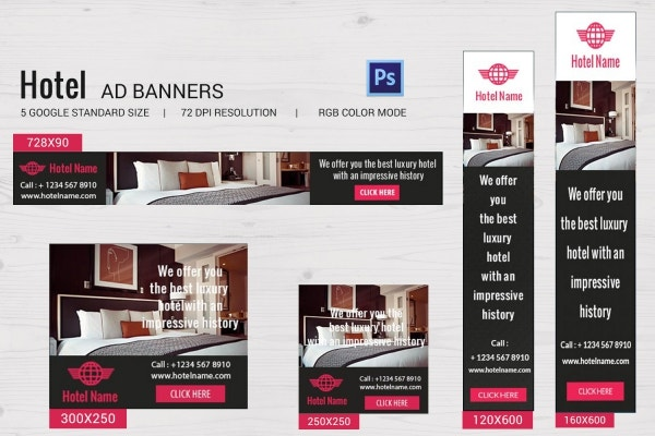 Hotel Ad Banners Template