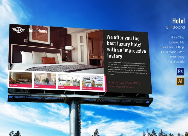 Hotel Billboard Template Design