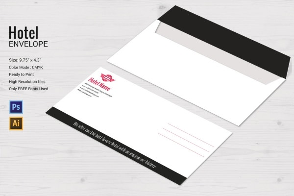 hotel envelope design