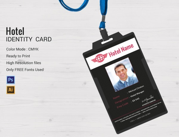 Hotel ID Card Designs