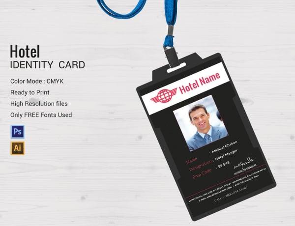 hotel id card designs