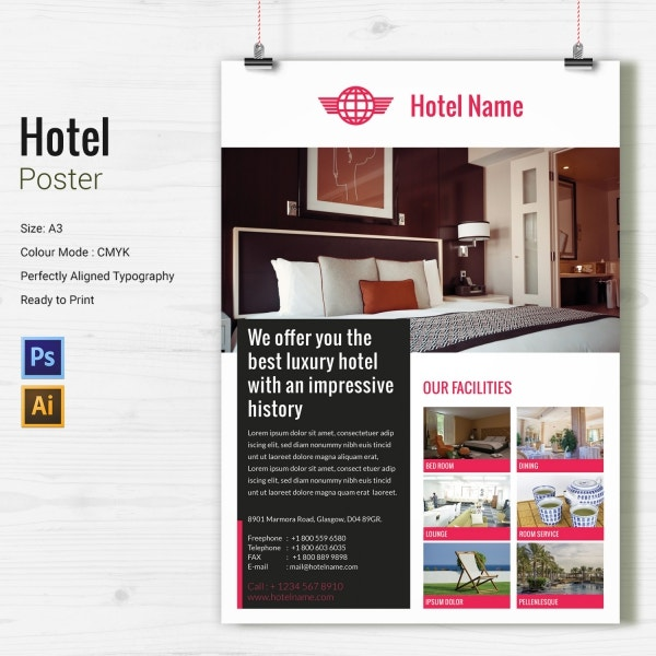 Hotel Poster Design Template