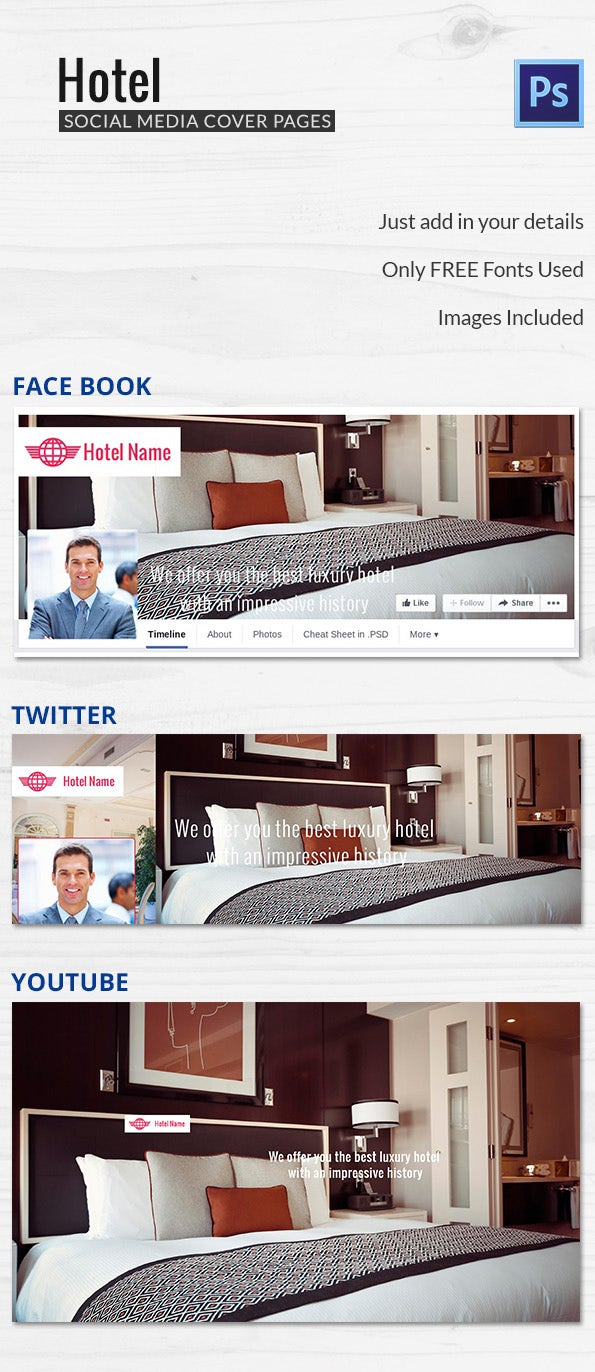 Hotel Social Cover Template