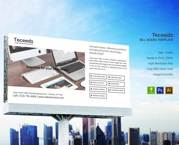 teceeds billboard templates