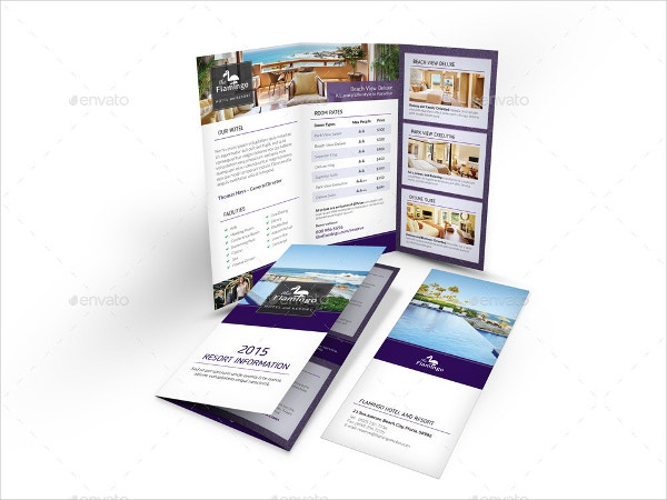 Resort brochure template 14 free psd ai eps vector for Hotel brochure templates free download