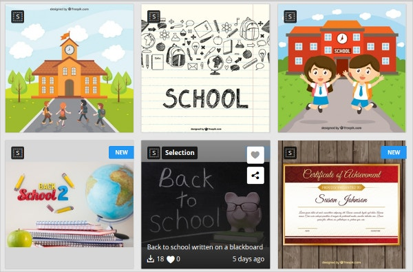 School Icon Set Free Download