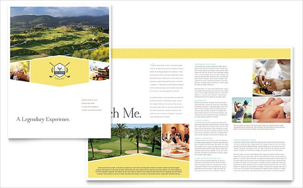 Resort brochure template 14 free psd ai eps vector for Golf brochure template