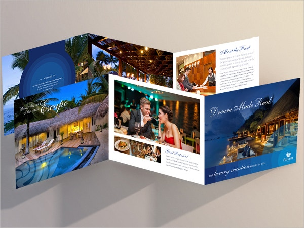 37  resort brochure template