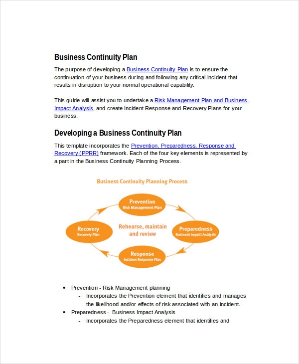 contingency plan template for a small business - 13 business plans free sample example format free