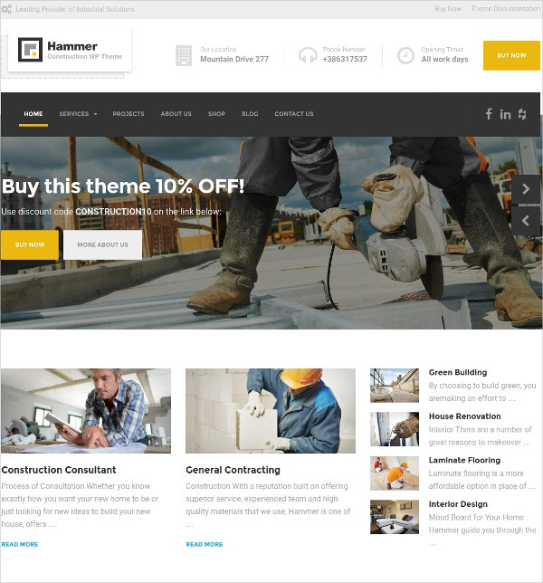 electrician engineering wp website theme 59