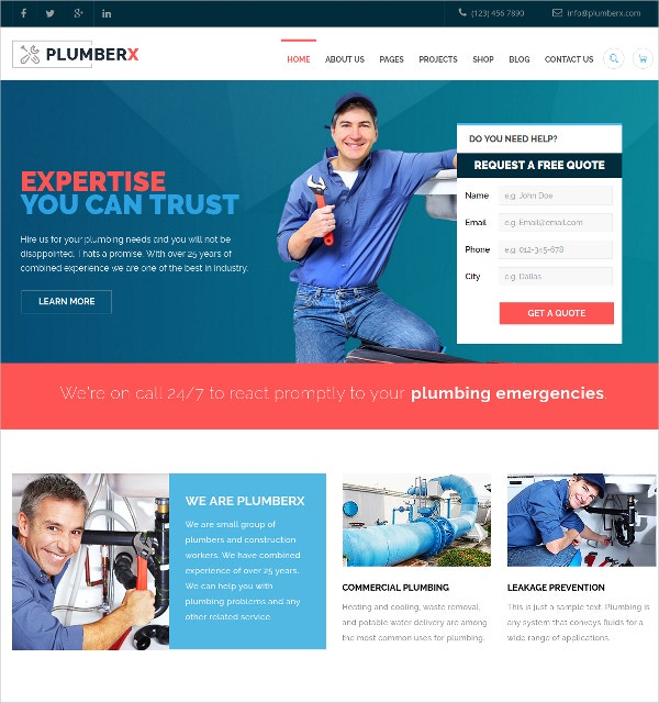 electrician company wordpress website theme 59