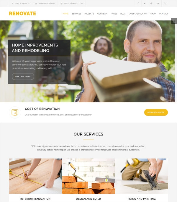 electrician construction wordpress website theme 59