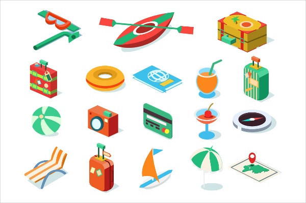 3D Travel Icons