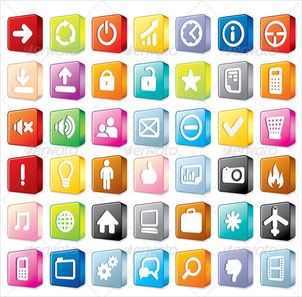 3D Interface Icons