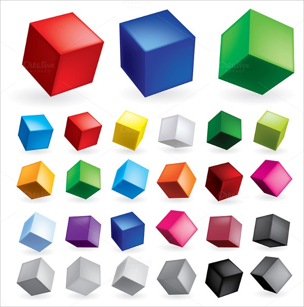 3D Cube Icons