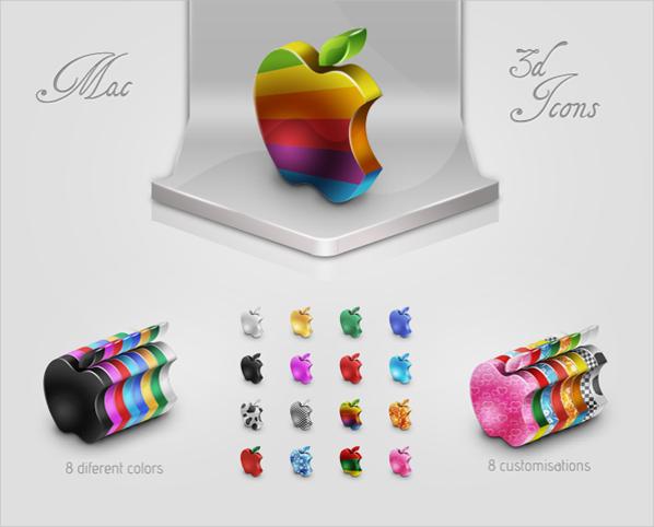 Mac 3D Icon Set