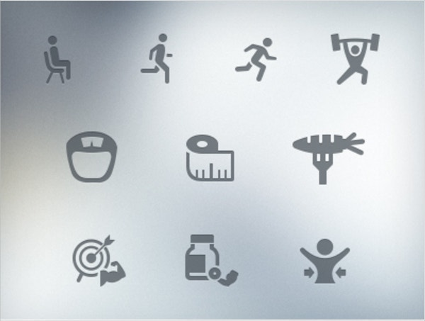 Physical Fitness Icons