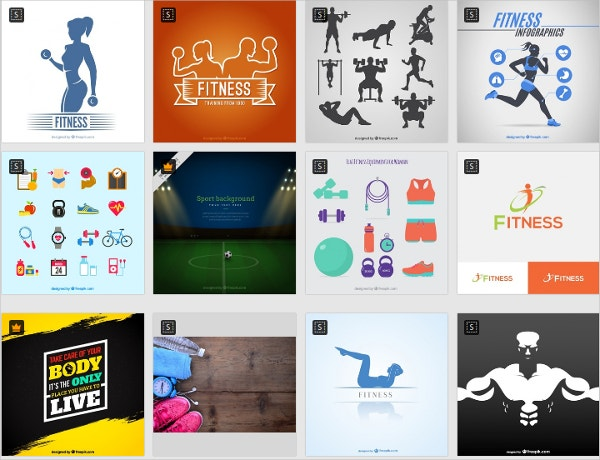 Free Fitness Icons