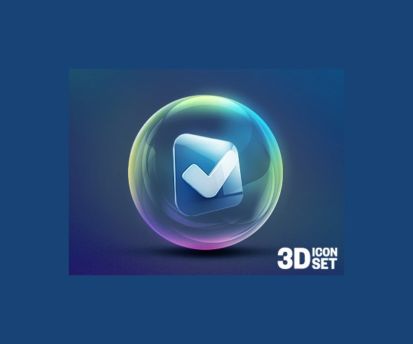 Graphic Design 3D Icon