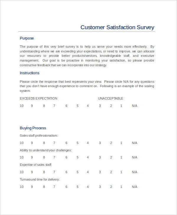 Customer Satisfaction Survey Report Template