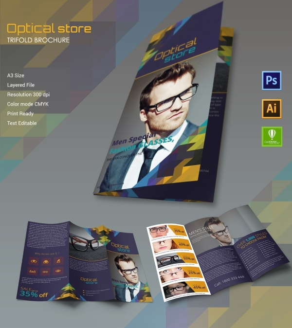 Optical Store Tri-fold Brochure