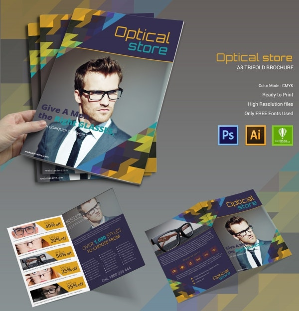 Optical Store Bi-fold Brochure