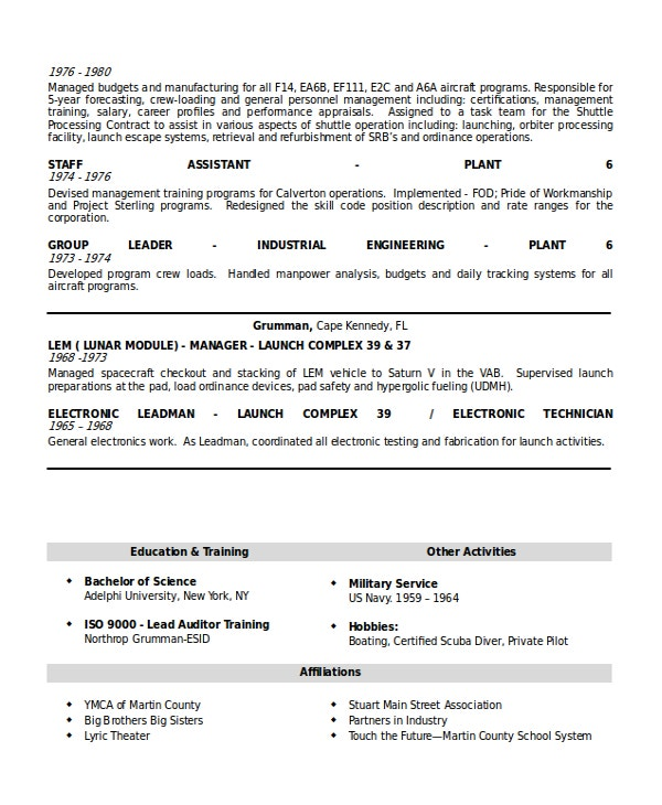 Senior Supervising Manger Resume